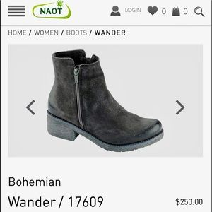 New NAOT Suede Ankle Walking Boots 38
